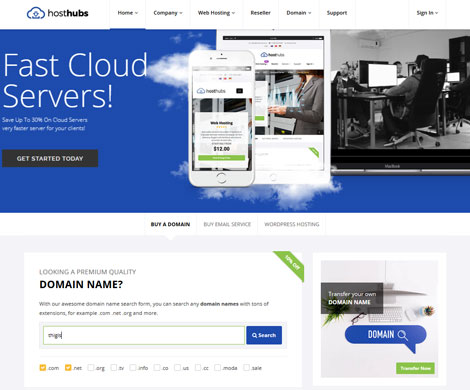 HostHubs: WHMCS Compatible Web Hosting Theme