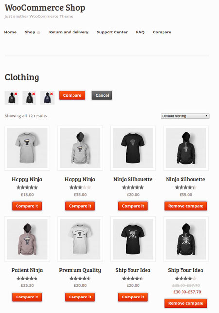 WooCommerce Compare List: Compare Products On Your Site