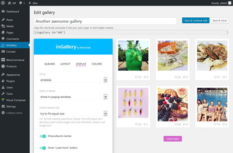 inGallery: Instagram Gallery Plugin