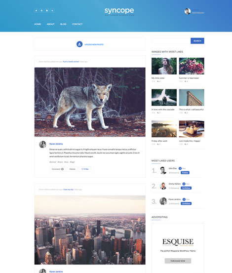 Syncope for WordPress: Build Your Own Instagram Like Photo Sharing Site