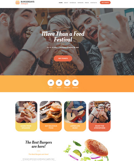 VegaDays: WooCommerce Theme for Food Festivals