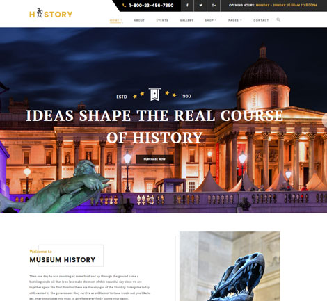History: WordPress Theme for Museum & Exhibition Sites