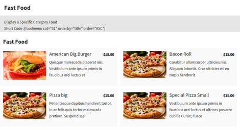 TLP Food Menu for WordPress