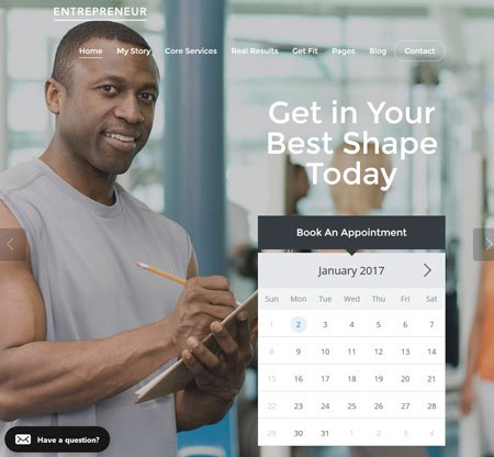 Entrepreneur: WooCommerce Booking Theme