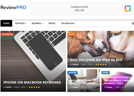 ReviewPro WordPress Theme for Review Sites