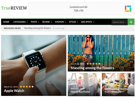 TrueReview: Review Magazine WordPress Theme