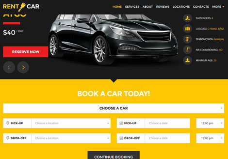 Wheelsberry: Car Rental Landing Page for WordPress
