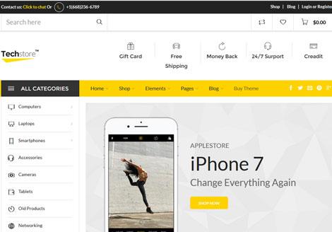 Techstore: Electronics AJAX WooCommerce Theme