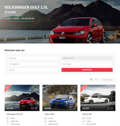 Carmen: WordPress Theme for Car Sellers / Buyers