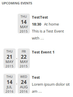 Event List: Display Events On Your Site