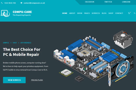 Compu-Care: WordPress Theme for Computer Repair Shops