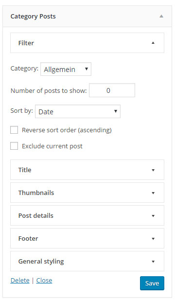 Category Posts Widget for WordPress: Display Recent Posts from a Single Category
