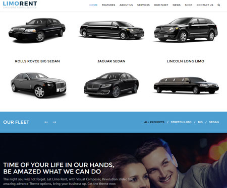 Limo Rent: WordPress Theme for Limousine Rental Services