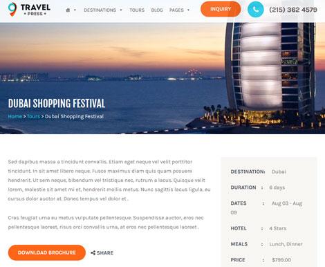 TravelPress: Travel Agency WordPress Theme