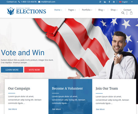 Elections: Political WordPress Theme