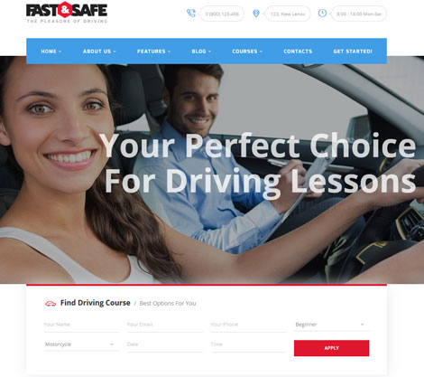 Fast & Safe Driving School Theme
