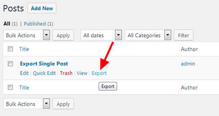 Single Post Exporter for WordPress