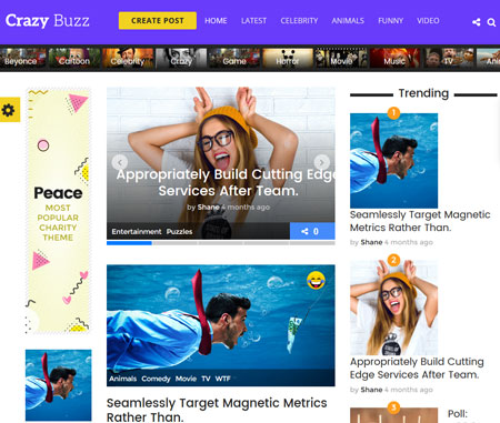 Vast Buzz: WordPress Theme for Viral Sites
