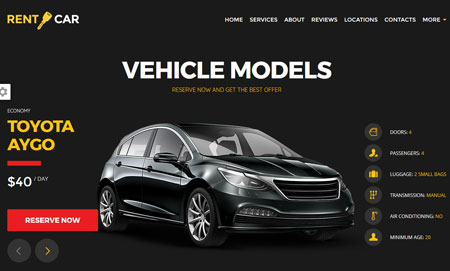 15 Car Rental WordPress Themes & Landing Pages