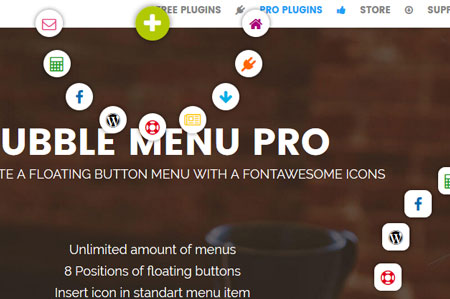 Bubble Menu Pro for WordPress
