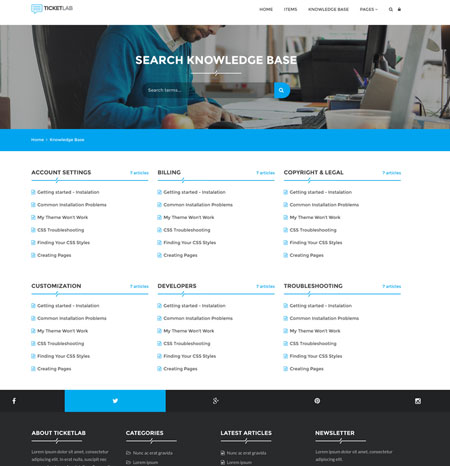 TicketLab Support Ticket Management WordPress Theme