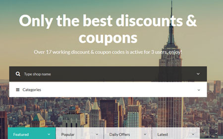 7 WordPress Themes for Deals & Discount Shopping Sites