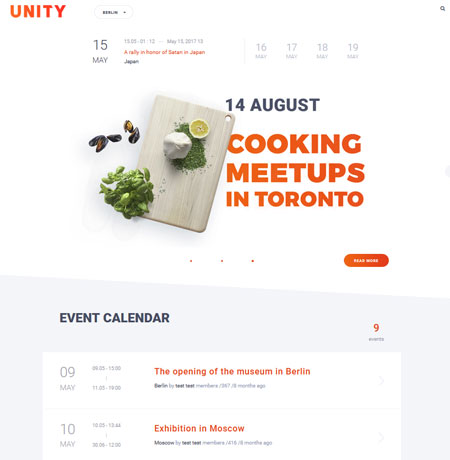 Unity: Instagram Integrated WordPress Theme for Events & Conferences