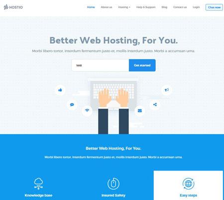 Hostio Web Hosting & WHMCS Theme