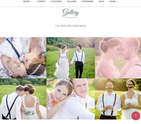 Jen+Ben: One Page Wedding Theme for WordPress