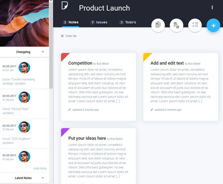 PrimusNote: Project Management System for WordPress