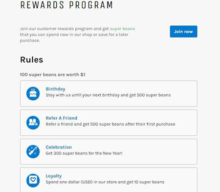 Beans: Rewards Program Plugin for WordPress