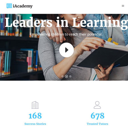 iAcademy Learning Management Theme for WordPress