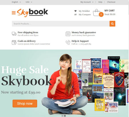VG Skybook: WooCommerce Theme for Book Stores