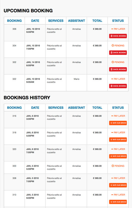 Salon Booking System for WordPress