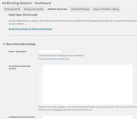 Ad Blocking Detector for WordPress