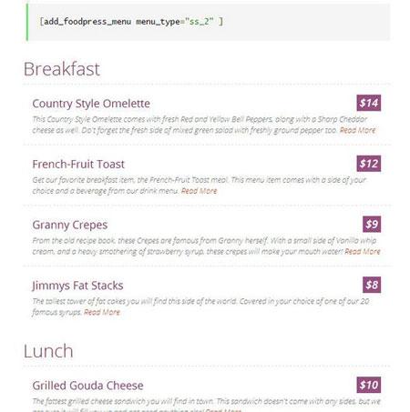 Nutrition Plugins for WordPress