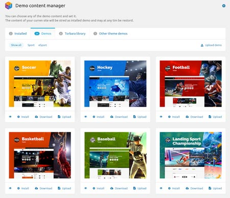 Demo Content Manager for WP Developers