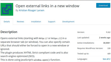 How to: Open WordPress External Links In a New Window