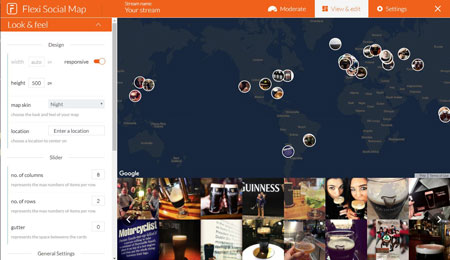 Flexi Social Map for WordPress: Display Your Instagram Photos On a Map