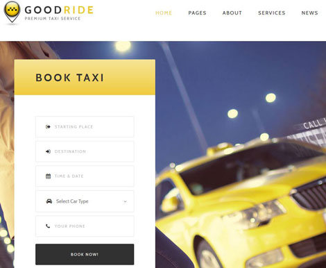 Good Ride: WordPress Theme for Taxi Companies