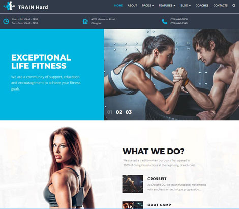 Train Hard Fitness Theme for WordPress