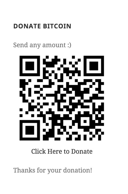 Easy Bitcoin Donation Widget for WordPress