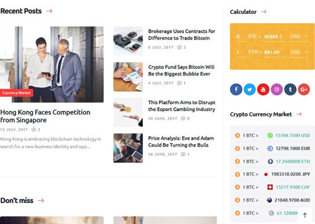 Crypton Cryptocurrency & Mining WordPress Theme