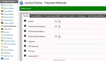 Responsive Auction Theme for WordPress