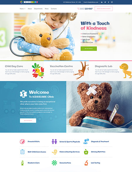 KiddiCare: WordPress Theme for Pediatric Clinics