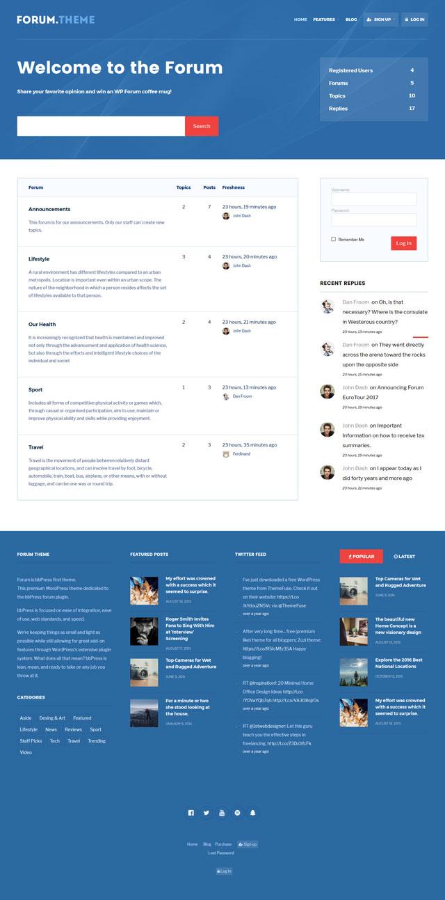 Forum: Responsive Theme for bbPress