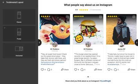 Instagram Testimonials WordPress Plugin