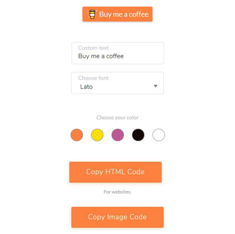 Buy Me A Coffee WordPress Plugin
