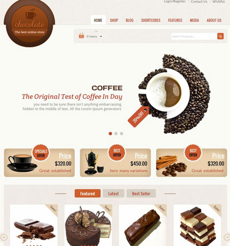 Chocolate: WooCommerce Theme for Cake Stores