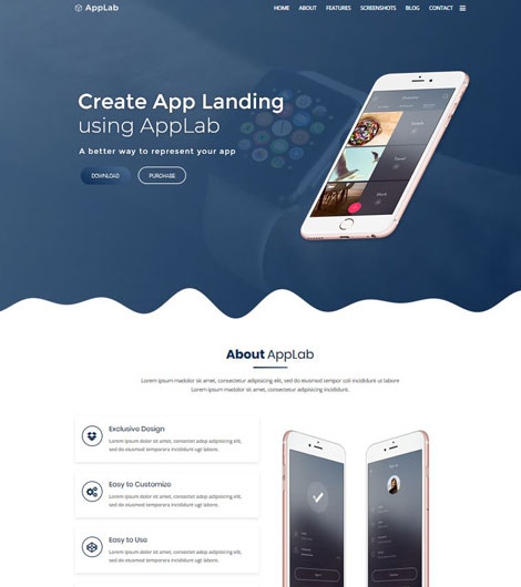 AppLab for WordPress: Landing Page for App Developers